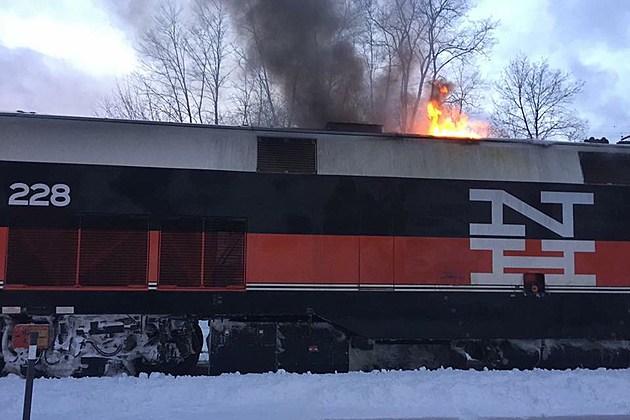 Exterior: Train Catches Fire Near Poughkeepsie Station