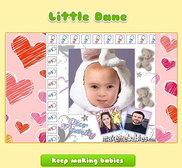 Screenshot from MakeMeBabies.Com