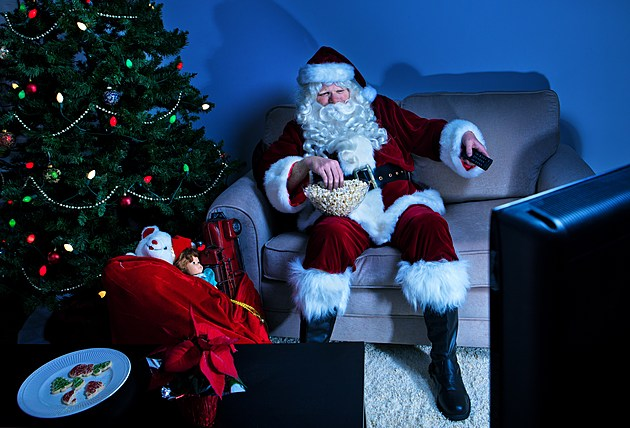 Santa takes a break